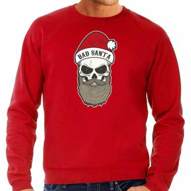 Grote maten bad santa foute kerstsweater / outfit rood voor heren