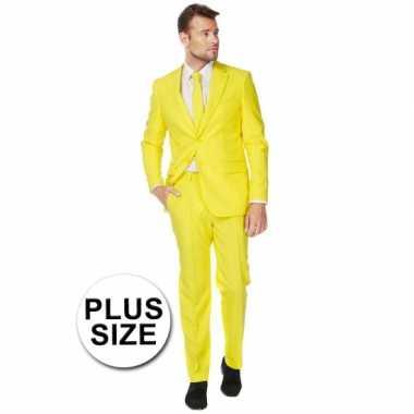 Grote maten  Big size heren kostuum geel