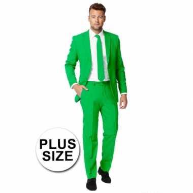 Grote maten  Big size heren kostuum groen