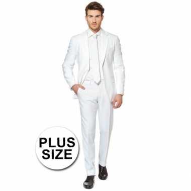 Grote maten  Big size heren kostuum wit