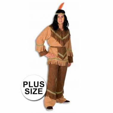 Grote maten  Big size kostuum indiaan