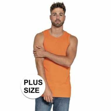 Grote maten big size oranje tops/hemden voor heren