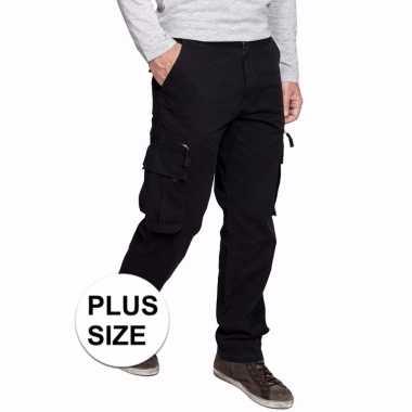 grote maten canvas werkbroek zwart voor heren | kleding-grote-maten.nl