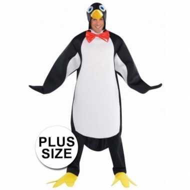 Grote maten carnavalskostuum pinguin voor heren xxl