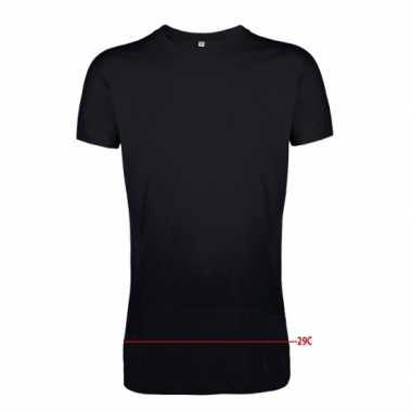 Grote maten extra lange zwarte shirts voor heren