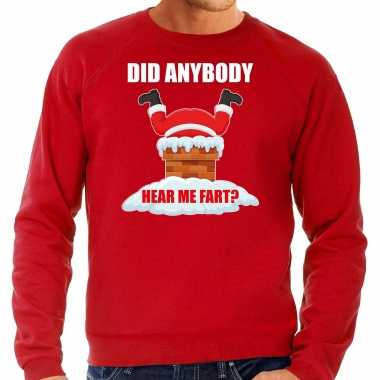 Grote maten fun kerstsweater / outfit did anybody hear my fart rood voor heren