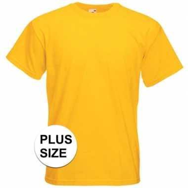 Grote maten gele t-shirts met korte mouwen voor heren