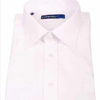 Grote maten heren overhemd wit met korte mouwen