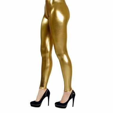 Grote maten legging goud