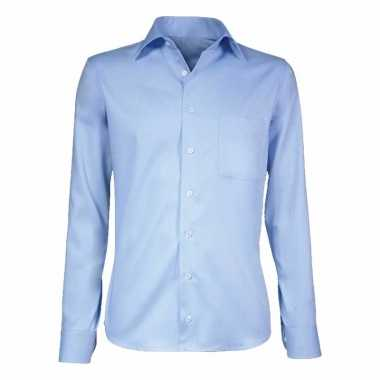 Grote maten lichtblauw smoking overhemd