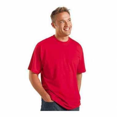 Grote maten logostar shirt korte mouw rood 3xl