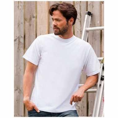 Grote maten logostar shirt korte mouw wit 3xl