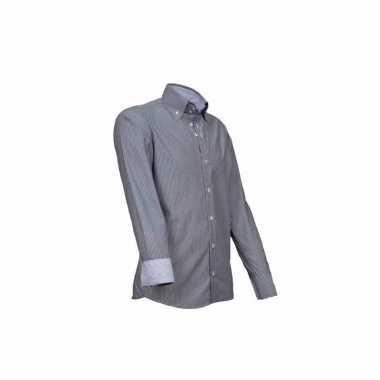 Grote maten luxe overhemd grijs giovanni capraro