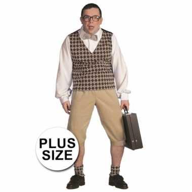 Grote maten nerd outfit voor heren