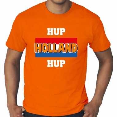 Grote maten oranje t-shirt holland / nederland supporter hup holland hup ek/ wk voor heren