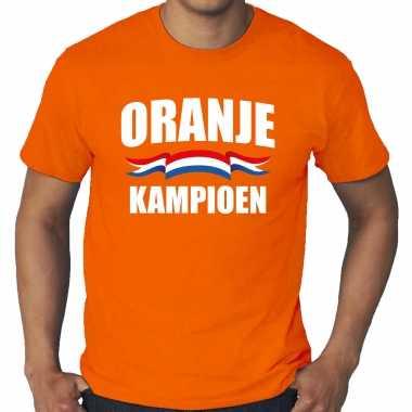 Grote maten oranje t-shirt holland / nederland supporter oranje kampioen ek/ wk voor heren