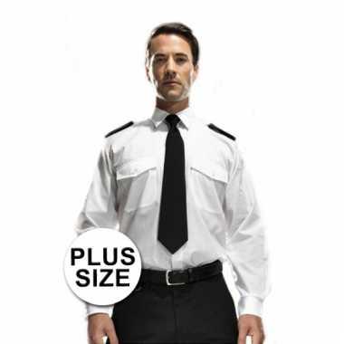 Grote maten piloten overhemd
