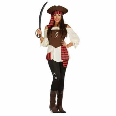 Grote maten piraten broek met shirt voor dames