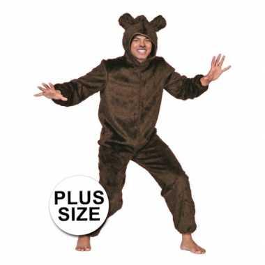 Grote maten  Plus size bruine beer kostuum