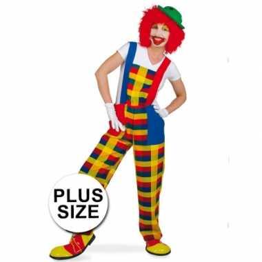 Grote maten plus size clown pebbi carnavalskostuum
