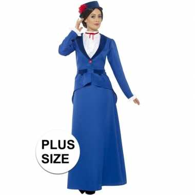 Grote maten plus size klassiek kinderjuf kostuum voor dames