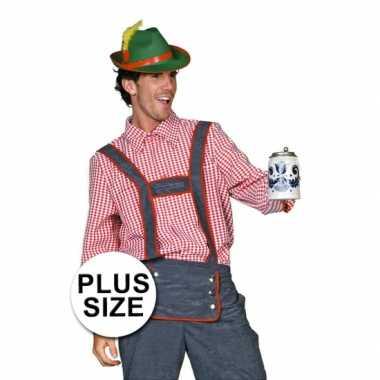 Grote maten  Plus size Tiroler blouse voor mannen