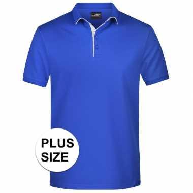 Grote maten polo t-shirt high quality blauw voor heren