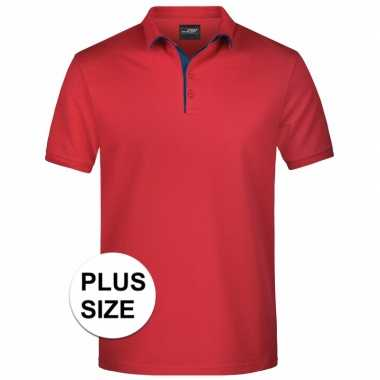 Grote maten polo t-shirt high quality rood voor heren