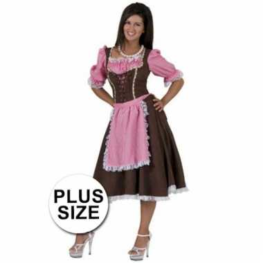 Grote maten tiroler verkleedkleding voor dames