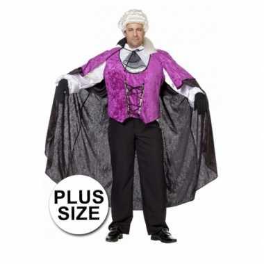 Grote maten verkleedkleding vampier