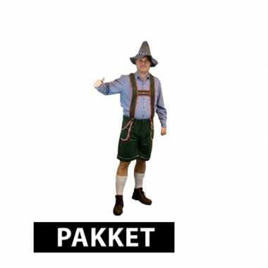 Grote maten voordelig tiroler kostuum met accessoires heren maat xxl