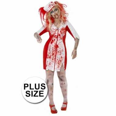 Grote maten zombie zuster kostuum