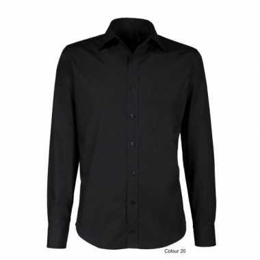 Grote maten zwart smoking overhemd