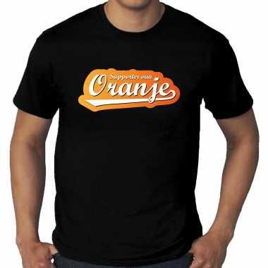 Grote maten zwart t-shirt holland / nederland supporter van oranje ek/ wk voor heren