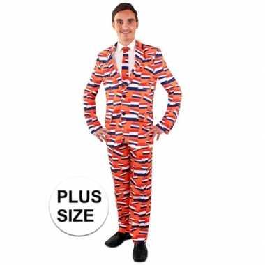 Nederlandse Kleding.Luxe Oranje Kostuum Nederlandse Vlag Voor Heren Grote Maten