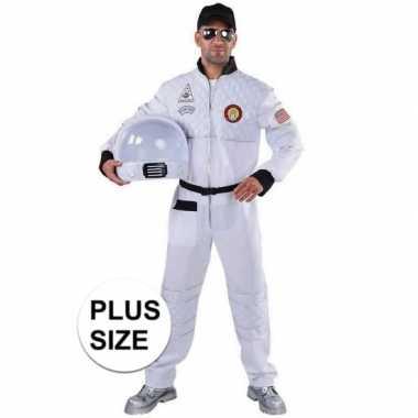 Maten carnavalskleding grote maat astronaut outfit/kostuum voor volwa