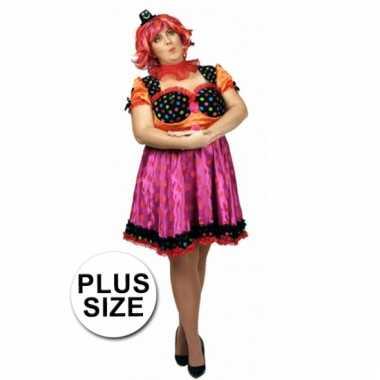 Carnavalskleding Grote Maten Dames.Maten Circus Jurk In Grote Maat Voor Dames Kleding Grote Maten Nl