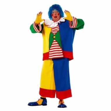 Maten  Clowns carnavalskleding voor heren in een grote maat
