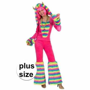 Maten grote maat carnavalskostuum fantasie monster voor dames