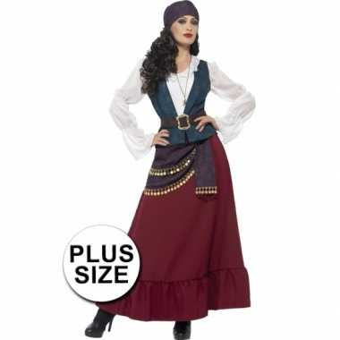 Maten grote maat dames piraat kostuum