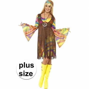 Maten grote maat hippie jurkje met gilet voor dames ...