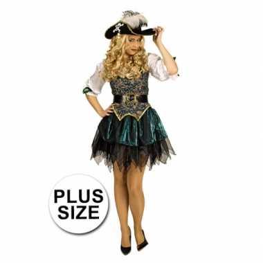 Maten  Grote maat piraten kostuum voor dames