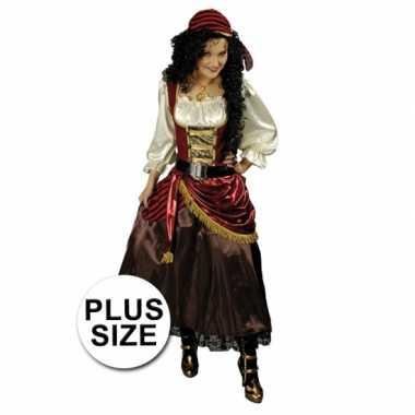 Maten  Grote maat piraten outfit voor dames