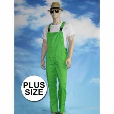 Maten grote verkleed tuinbroek groen voor volwassenen