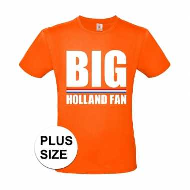 Oranje big holland fan grote maten shirt heren