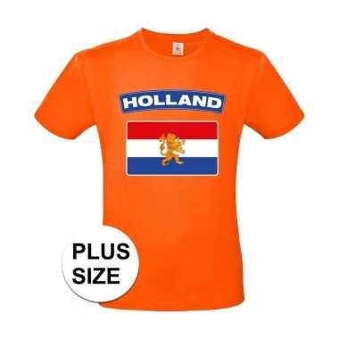 Oranje holland vlag grote maten shirt heren