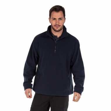 Polyester grote maten fleece trui navy