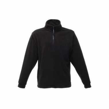 Polyester grote maten fleece trui zwart