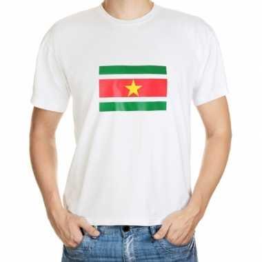 Suriname vlaggen t-shirts grote maten