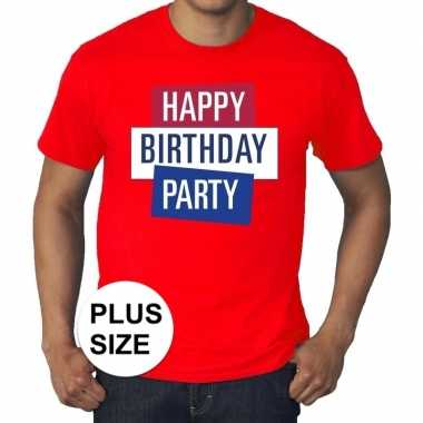 Toppers - grote maten rood toppers happy birthday party t-shirt offi
